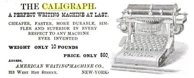 Caligraph 1 small 1881