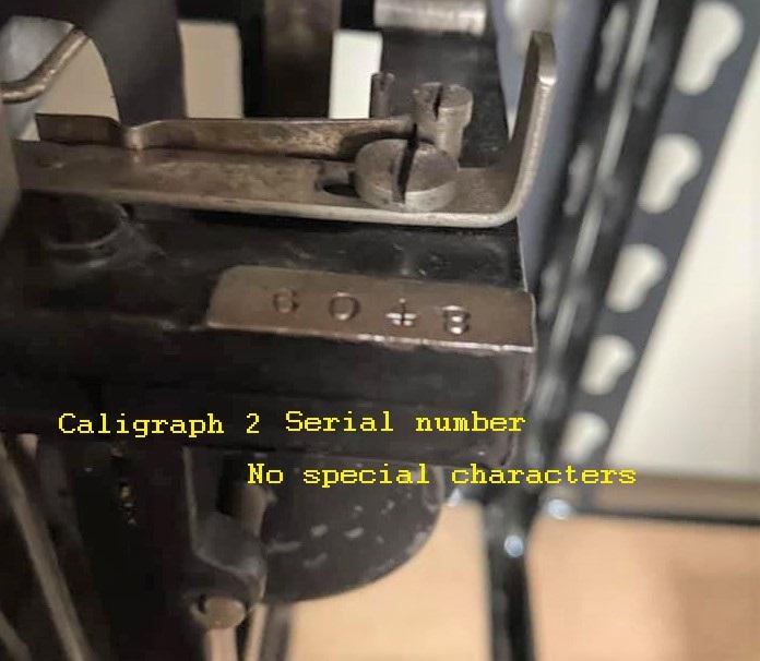 Caligraph 2 serial no no special characteristics