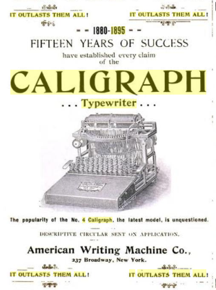 caligraph 4 1895